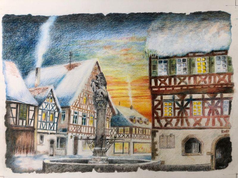 Burg Hohenbeilstein vom Weinberg aus betrachtet
